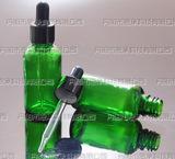 30ml绿色玻璃瓶_精油瓶_配亮黑电化铝滴管盖_玻璃滴管瓶